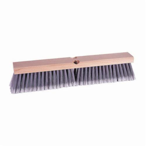 Vortec Pro® 77013 Threaded Tip Push Broom, 18 in OAL, 3 in Trim, Fine Sweep Face, Flagged Gray Polystyrene Bristle