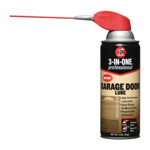 3-IN-ONE® 100581 Heavy Duty High Performance Garage Door Lubricant, 11 oz Aerosol Can, Aerosal Spray Form, Clear, 0.75