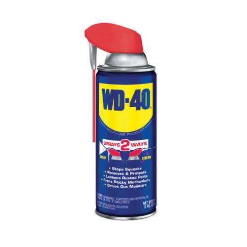 WD-40® 490040 Multi-Use Smart Straw Lubricant, 11 oz Aerosol Can, Liquid Form, Light Amber, 0.8