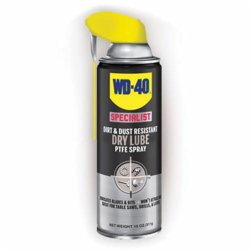 WD-40® SPECIALIST® 300059 Dirt and Dust Resistant Dry Lubricant, 10 oz Aerosol Can, Liquid Form, Clear Glass, 0.72