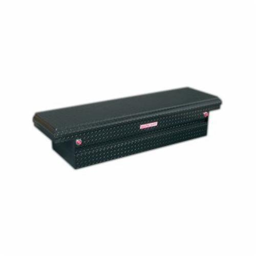 WEATHER GUARD® 121-5-01 Full Low Profile Saddle Box, 15 in H x 20-1/4 in W x 71-1/2 in D, 8.8 cu-ft, Gloss Black