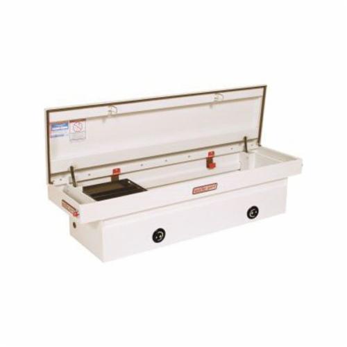 WEATHER GUARD® 126-3-02 Full Standard Saddle Box, 18-1/2 in H x 20-1/4 in W x 71-1/2 in D, 11.3 cu-ft, Brite White