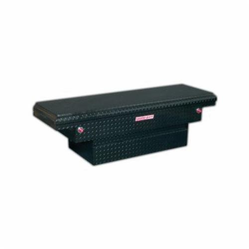 WEATHER GUARD® 131-5-01 Compact Low Profile Saddle Box, 18-1/2 in H x 20-1/4 in W x 66 in D, 8.7 cu-ft, Gloss Black