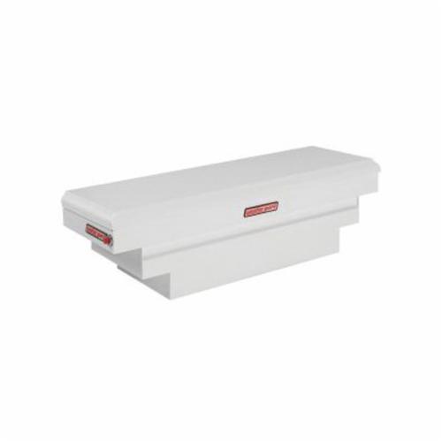 WEATHER GUARD® 136-3-01 Compact Deep Saddle Box, 18-1/2 in H x 20-1/4 in W x 62 in D, 8.9 cu-ft, Brite White
