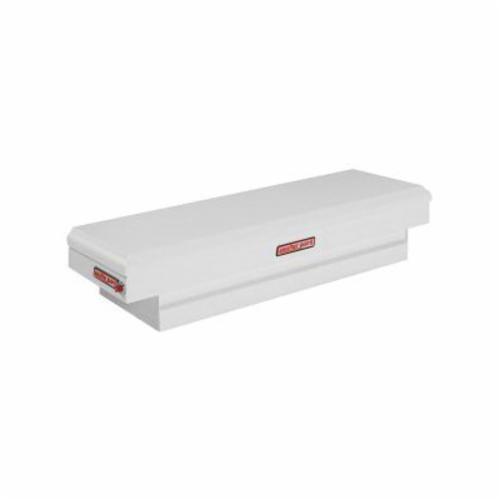 WEATHER GUARD® 156-3-01 Compact Standard Saddle Box, 13-1/4 in H x 20-1/4 in W x 62 in D, 6.4 cu-ft, Brite White