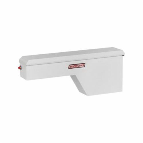 WEATHER GUARD® 161-3-01 Passenger Side Standard Pork Chop Box, 19-1/8 in H x 9-1/4 in W x 46-1/2 in D, 2.1 cu-ft, Brite White