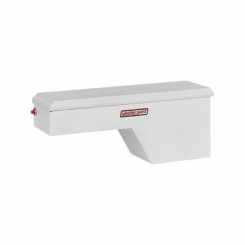 WEATHER GUARD® 163-3-01 Passenger Side Pork Chop Box, 19-1/8 in H x 13-5/8 in W x 46-1/2 in D, 3.4 cu-ft, Brite White