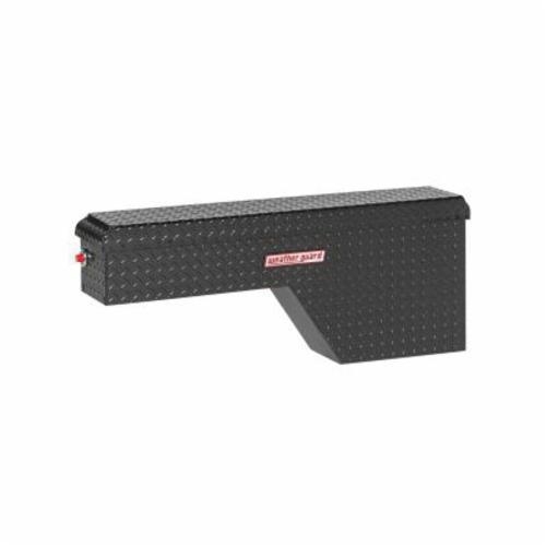 WEATHER GUARD® 171-5-01 Passenger Side Pork Chop Box, 19-1/2 in H x 9-1/4 in W x 46-3/4 in D, 2.1 cu-ft, Gloss Black