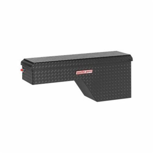 WEATHER GUARD® 173-5-01 Passenger Side Pork Chop Box, 19-1/2 in H x 13-1/2 in W x 46-3/4 in D, 3.4 cu-ft, Gloss Black