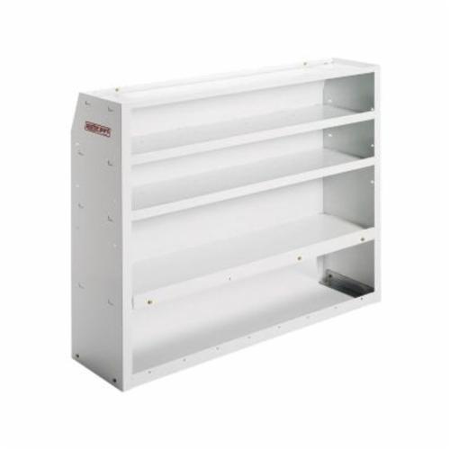 WEATHER GUARD® EZ-Cube 2758373 Welded Shelf Unit, Armor-Tuf® Powder Coated, 52 in W Shelf, Steel, White