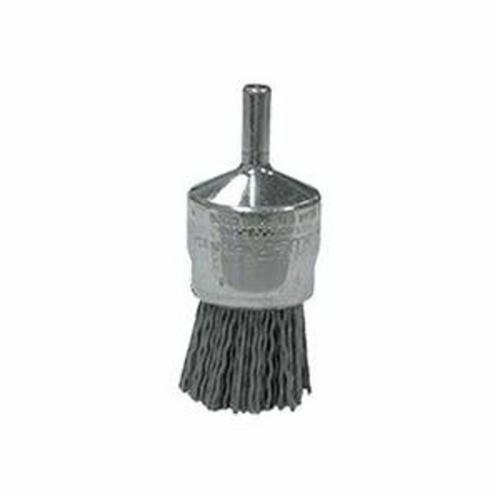 Nylox® 10156 Stem Mount End Brush, 1 in, Crimped, 0.04 in, Silicon Carbide Fill, 7/8 in L Trim