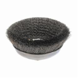 Weiler® 14066 Internal Nut Cup Brush, 6 in Dia Brush, 5/8-11 UNC Arbor Hole, 0.014 in Dia Filament/Wire, Crimped, Steel Fill