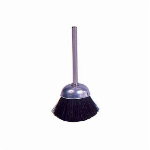 Weiler® 26096 Miniature Stem Mounted Cup Brush, 1 in Dia Brush, Soft Hair Fill