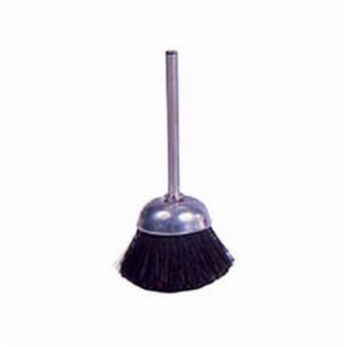 Weiler® 26095 Miniature Stem Mounted Cup Brush, 1 in Dia Brush, Stiff Hair Fill