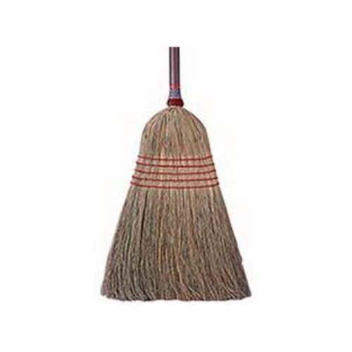 Weiler® 44009 Upright Broom, Corn Fiber Bristle, 15 in L Trim, Wood Handle, 56 in OAL