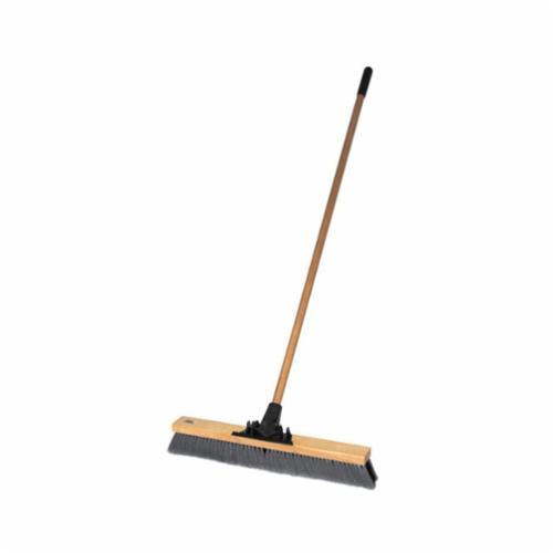 Pro-Flex™ 44600 Push Broom, 24 in OAL, 3 in Trim, Black/Gray Polypropylene/Polystyrene Bristle