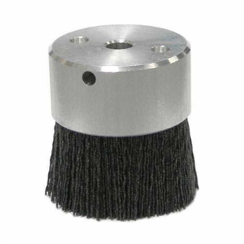 Burr-Rx® 85733 Crimped Maximum Density Miniature Round Straight Disc Brush, 2 in Dia Brush, 3/8 in, 0.055 in, Ceramic Fill