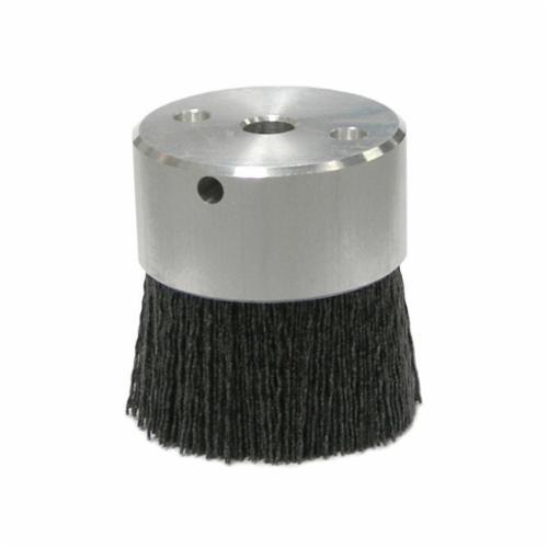 Burr-Rx® 85738 Crimped Maximum Density Miniature Round Straight Disc Brush, 2 in Dia Brush, 3/8 in, 0.035 in, Ceramic Fill