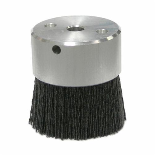Burr-Rx® 86013 Crimped Maximum Density Miniature Round Straight Disc Brush, 3 in Dia Brush, 3/8 in, 0.035 in, Ceramic Fill