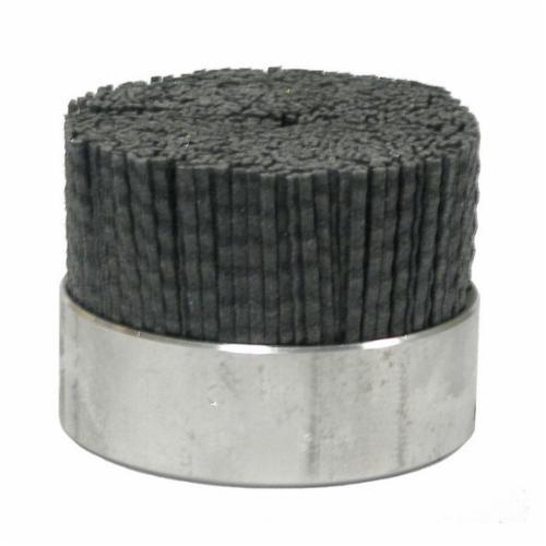 Burr-Rx® 86014 Crimped Maximum Density Miniature Rectangle Straight Disc Brush, 3 in Dia Brush, 3/8 in, Ceramic Fill