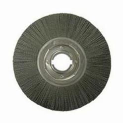Nylox® Burr-Rx™ 86140 Composite Wheel Brush With (2) 1/2 x 1/4 in Keyways, 14 in Dia, 1-1/4 in W Face, 0.055 in Dia Crimped/Round Filament/Wire, 2 in Arbor Hole
