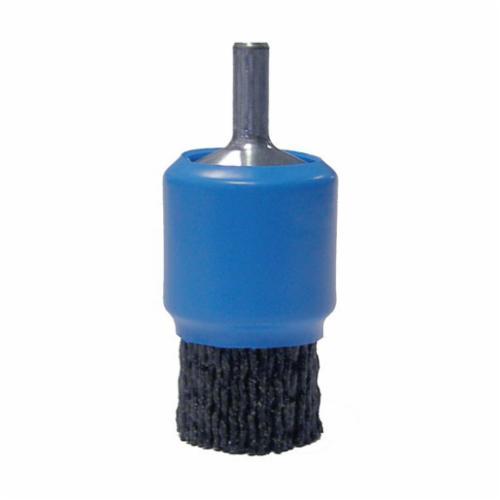Burr-Rx® 86148 End Brush, 1 in Dia Brush, Crimped, 0.055 in Dia Filament/Wire, Steel Fill, 3/4 in L Trim