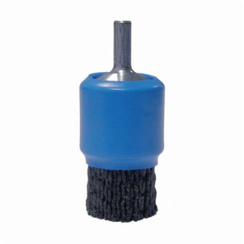 Burr-Rx® 86148 End Brush, 1 in, Crimped, 0.055 in, Steel Fill, 3/4 in L Trim