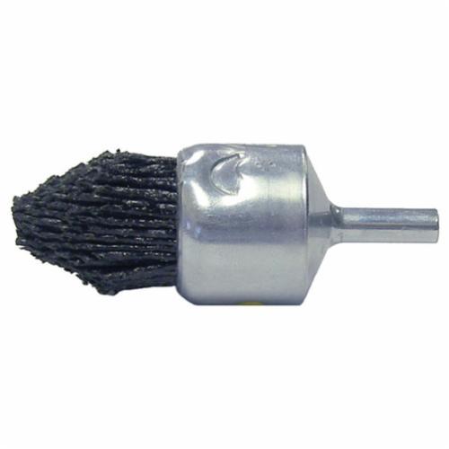 Burr-Rx® 86159 End Brush, 1 in Dia Brush, Crimped, 0.035 in Dia Filament/Wire, Steel Fill, 1-1/8 in L Trim