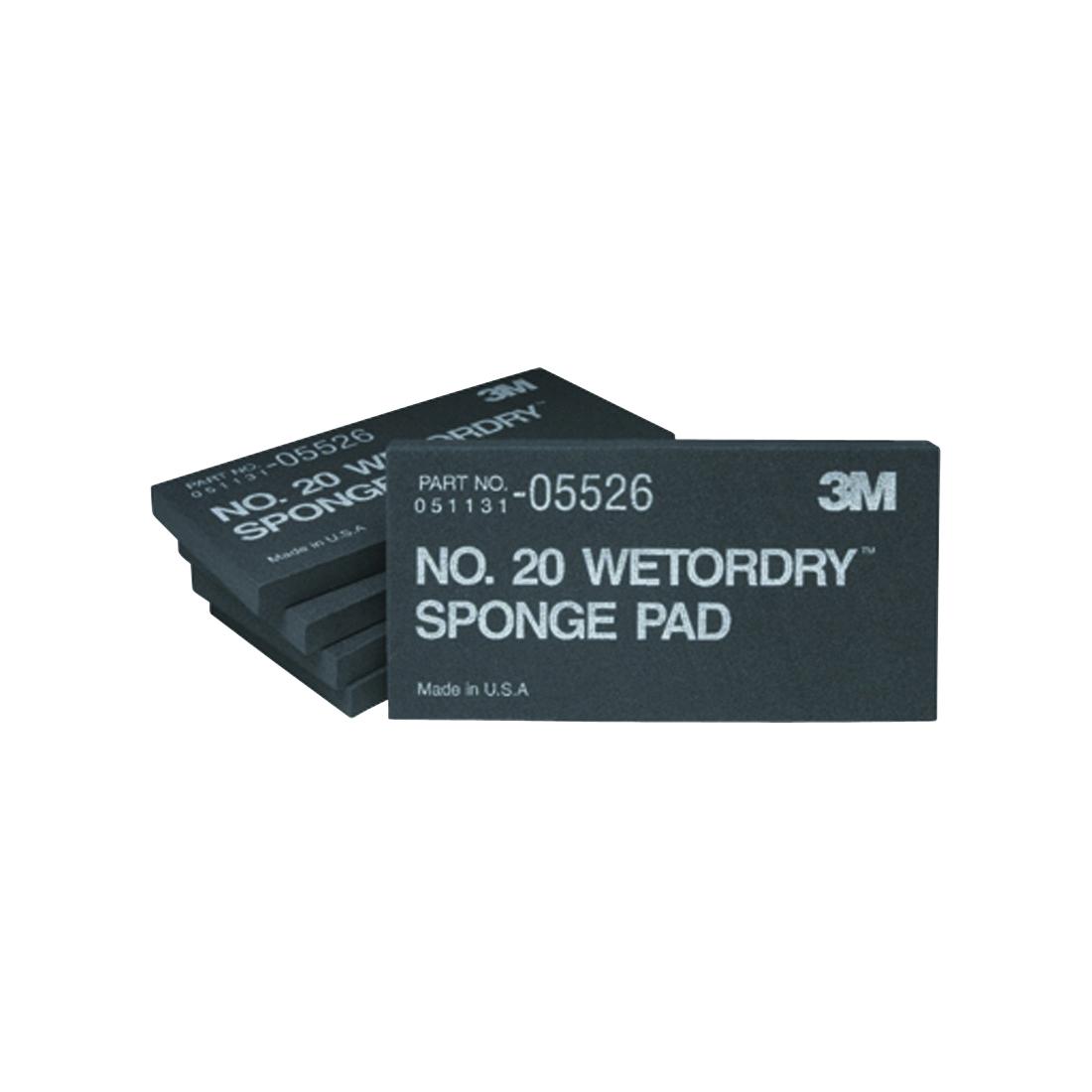 3M™ Wetordry™ 051131-05526 Sponge Pad, 5-1/2 in L x 2-3/4 in W x 3/8 in THK