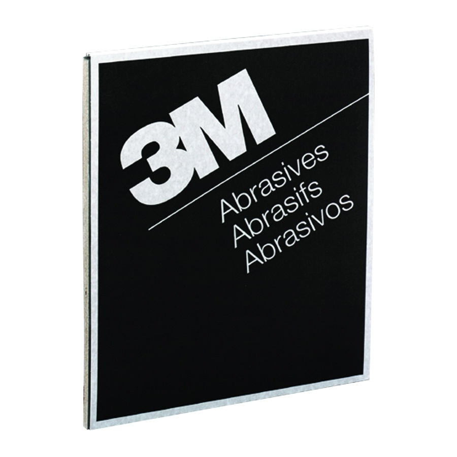 3M™ Wetordry™ 051144-02005 Coated Sanding Sheet, 11 in L x 9 in W, 280 Grit, Extra Fine Grade, Silicon Carbide Abrasive, Paper Backing