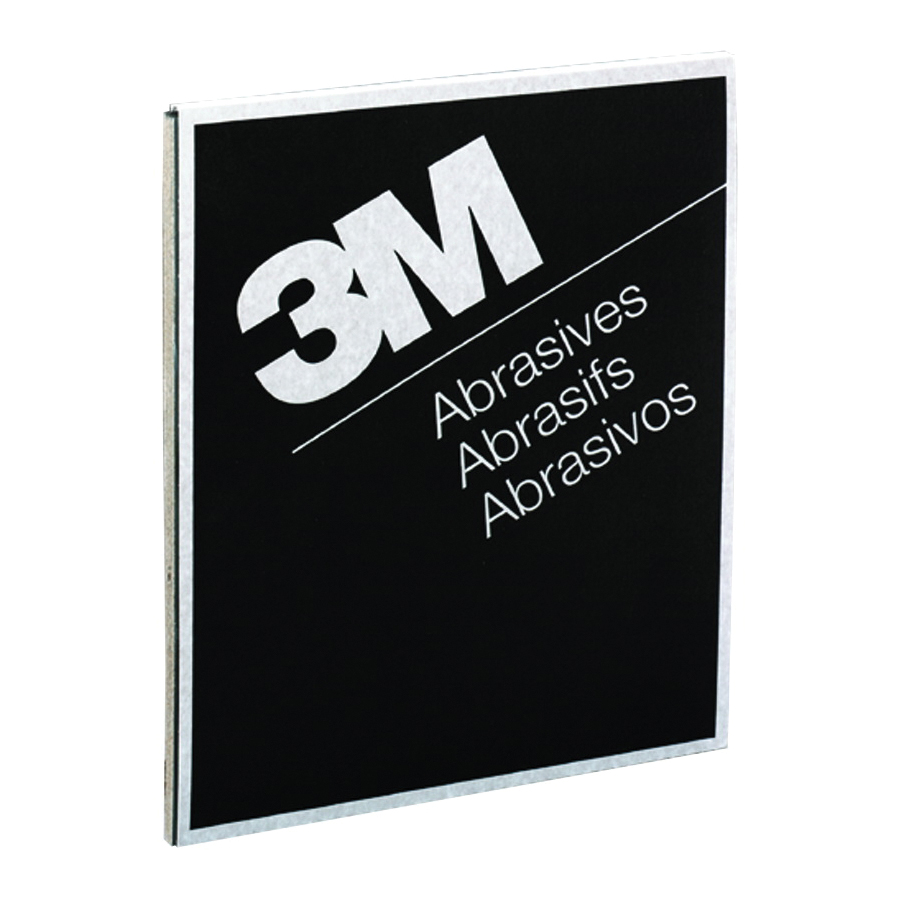 3M™ Wetordry™ 051144-02007 Coated Sanding Sheet, 11 in L x 9 in W, 220 Grit, Very Fine Grade, Silicon Carbide Abrasive, Paper Backing