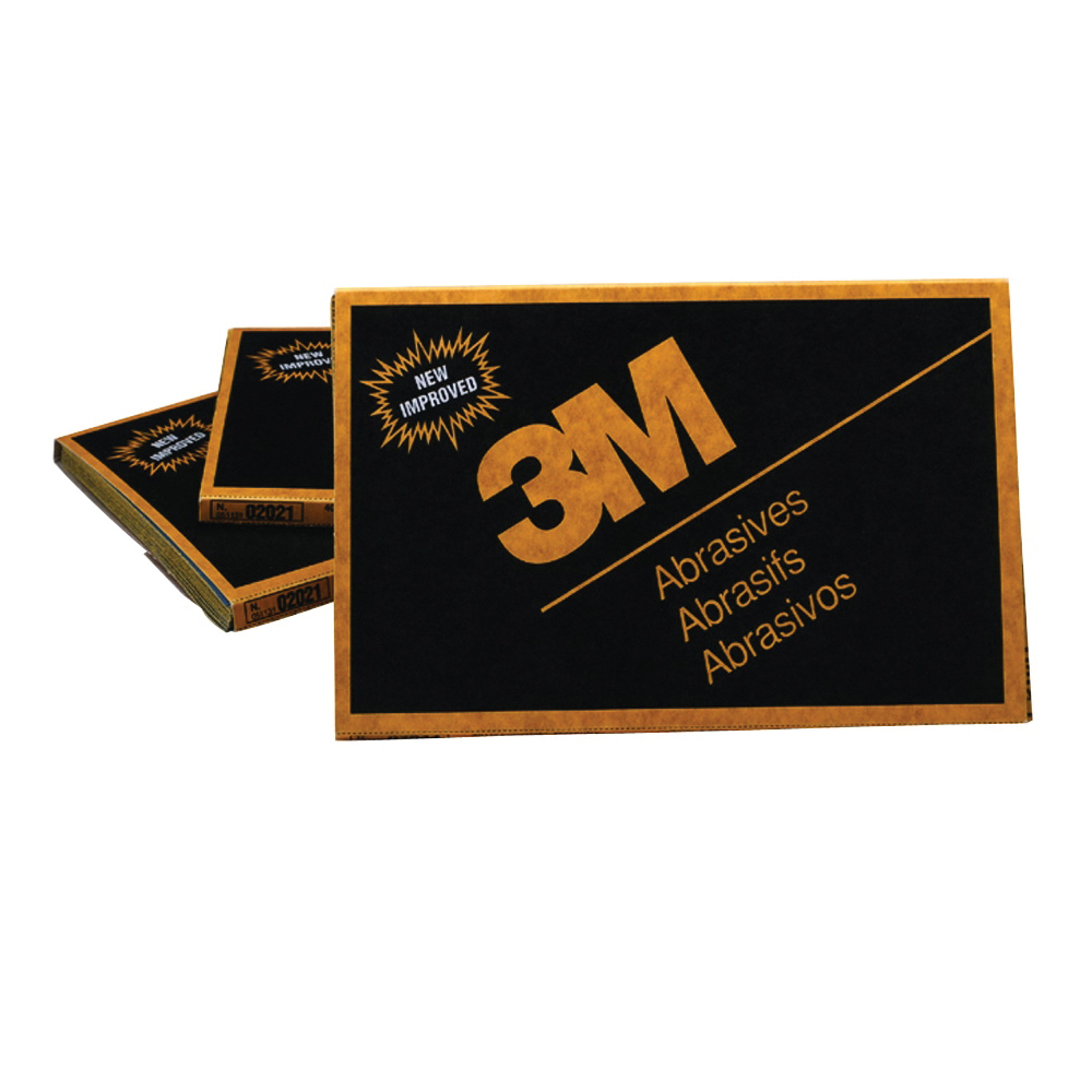 3M™ Wetordry™ 051144-02021 Coated Sanding Sheet, 9 in L x 5 in W, P1000 Grit, Fine Grade, Silicon Carbide Abrasive, Paper Backing