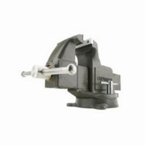 Wilton® 10006 Deep Throat Machinist Bench Vise, Serrated Jaw, 4-3/4 in Jaw Opening, 3 in W Hardened Steel Jaw, 2-5/8 in D Throat
