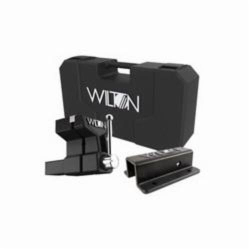 Wilton® 10015 All-Terrain Vise™ Bench Vise With Carrying Case, V-Groove Jaw, 5-3/4 in Jaw Opening, 6 in W Hardened Steel Jaw, 5 in D Throat
