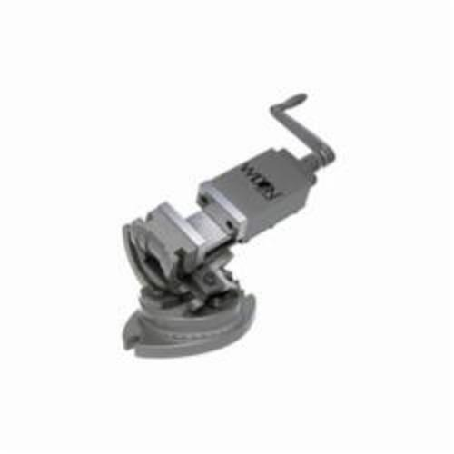 Wilton® 11701 3-Axis Super Precision Tilting Machine Angle Vise, 11-3/4 in L x 8 in H, 3 in Jaw, Alloy Steel