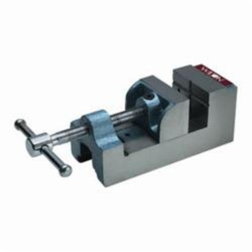 Wilton® 12860 Continuous Nut Standard Drill Press Vise, 8-19/64 in L x 3-3/4 in H, 3-1/8 in Jaw Opening, 600 lb Capacity, Cast Iron