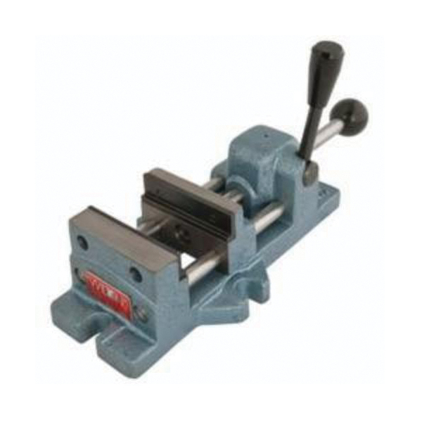 Wilton® 13400 Cam Action Drill Press Vise, 11.9 in L x 3.6 in H, 3 in Jaw Opening, 400 to 600 lb Capacity, Cast Iron
