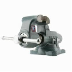 Wilton® 10016 Round Channel Machinist Vise With Swivel Base, Serrated Jaw, 6-1/2 in Jaw Opening, 4 in W Hardened Steel Jaw, 3-1/2 in D Throat