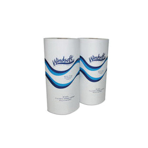 Windsoft® WIN 1220 Perforated Paper Towel Roll, 2 Plys, Paper, White, 8.8 in W