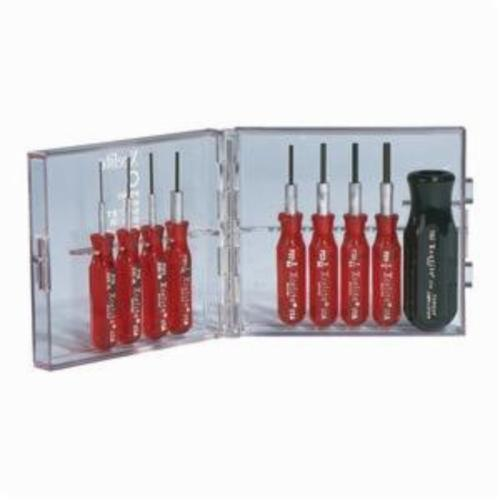 Xcelite® PS89 Compact Screwdriver Set, 9 Pieces, Chrome Vanadium Steel Blade