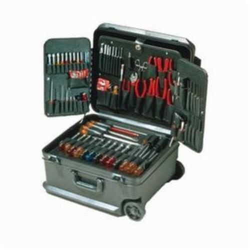 Xcelite® TCMB100STW Attache Tool Kit, Case with Wheels Tool Storage, 86 Pieces, Polyethylene