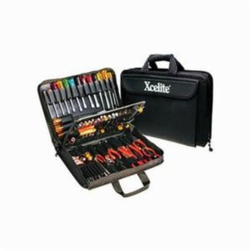 Xcelite® TCS100ST Attache Soft Sided Tool Kit, Case Tool Storage, 86 Pieces, Rugged Cordura®