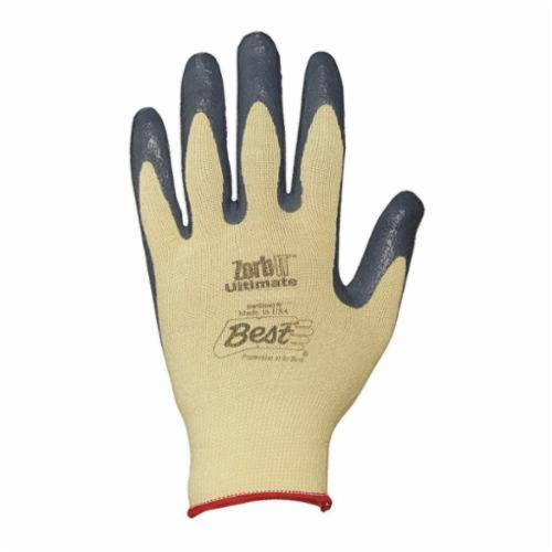 Zorb-IT® 4560-09 Cut Resistant Gloves, L/SZ 9, Sponge Nitrile Coating, Kevlar®/Spandex®, Knit Wrist Cuff, Resists: Abrasion, Cut and Oil, ANSI Cut-Resistance Level: A3
