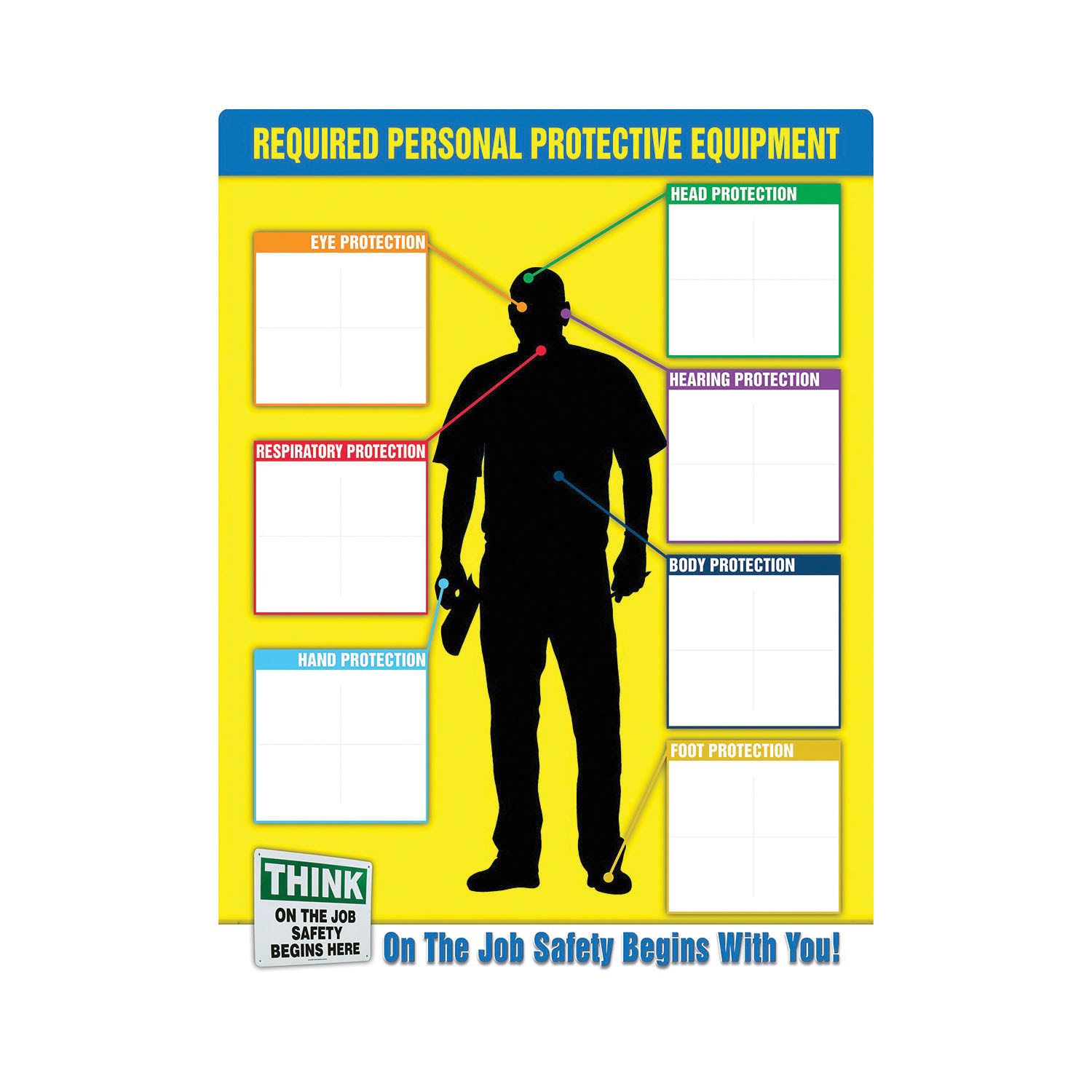 Accuform® PPE357 PPE-ID™ Safety Poster, Text, Plastic, 24 in H x 18 in W, English