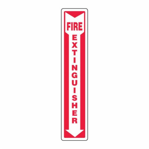 Accuform® MFXG545VP Moisture-Resistant Fire Extinguisher Sign, 18 in H x 4 in W, White/Red, Plastic, Surface Mount