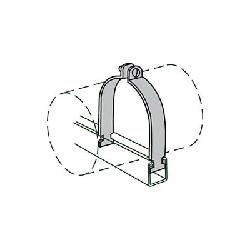 Anvil-Strut™ 2400326183 FIG AS 1100AS Rigid Conduit Clamp Assembly, 3-1/2 in Conduit, 1150/300 lb Load, 4 in OD, Steel