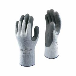 Atlas® by Showa Best 451L Therma-Fit® Breathable Insulated General Purpose Gloves, Coated/Multi-Purpose, Natural Rubber Latex Palm, 10 ga Acrylic/Cotton/Polyester, Dark Gray/Gray, Elastic Knit Wrist Cuff, Natural Rubber Latex Coating