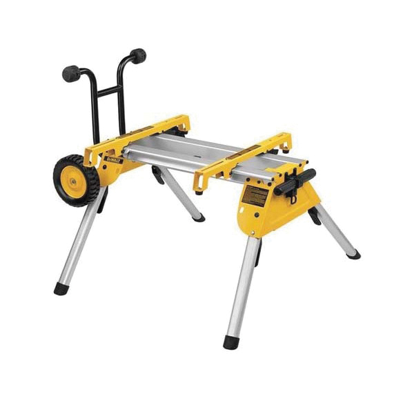 Black+Decker® DeWALT® DW7440RS Portable Rolling Table Saw Stand, For Use With DW744X Job Site Table Saw, Aluminum, Yellow