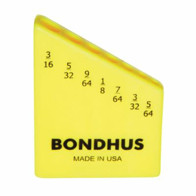 Bondhus® 18045 7-Tool Case, For Use With 5/64 in, 3/32 in, 7/64 in, 1/8 in, 9/64 in, 5/32 in and 3/16 in Hex Key