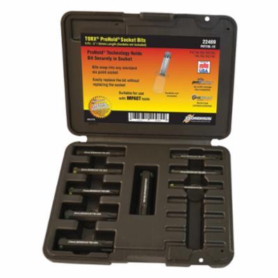 Bondhus® 22489 ProHold® Socket Bit Set, T15 to T60 Torx, 9 Pieces, ProGuard™